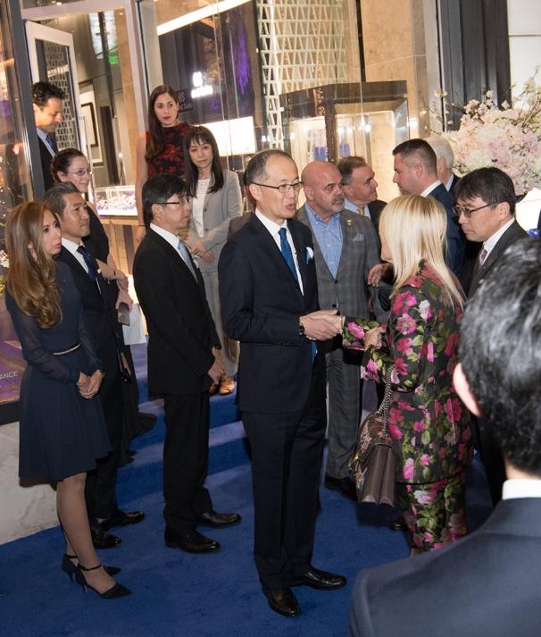 Grand Seiko Boutique Grand Affair Beverly Hills Store Opening Shuji Takahaski welcoming Beverly Hills Mayor Lili Bosse.jpg