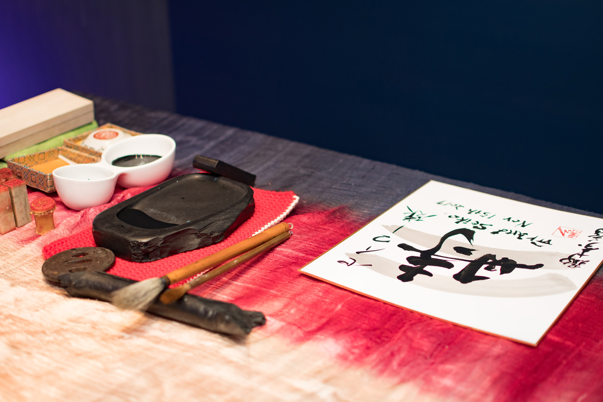 Grand Seiko Boutique Grand Affair Beverly Hills Store Opening Traditional Japanese Calligraphy Created on Site.jpg