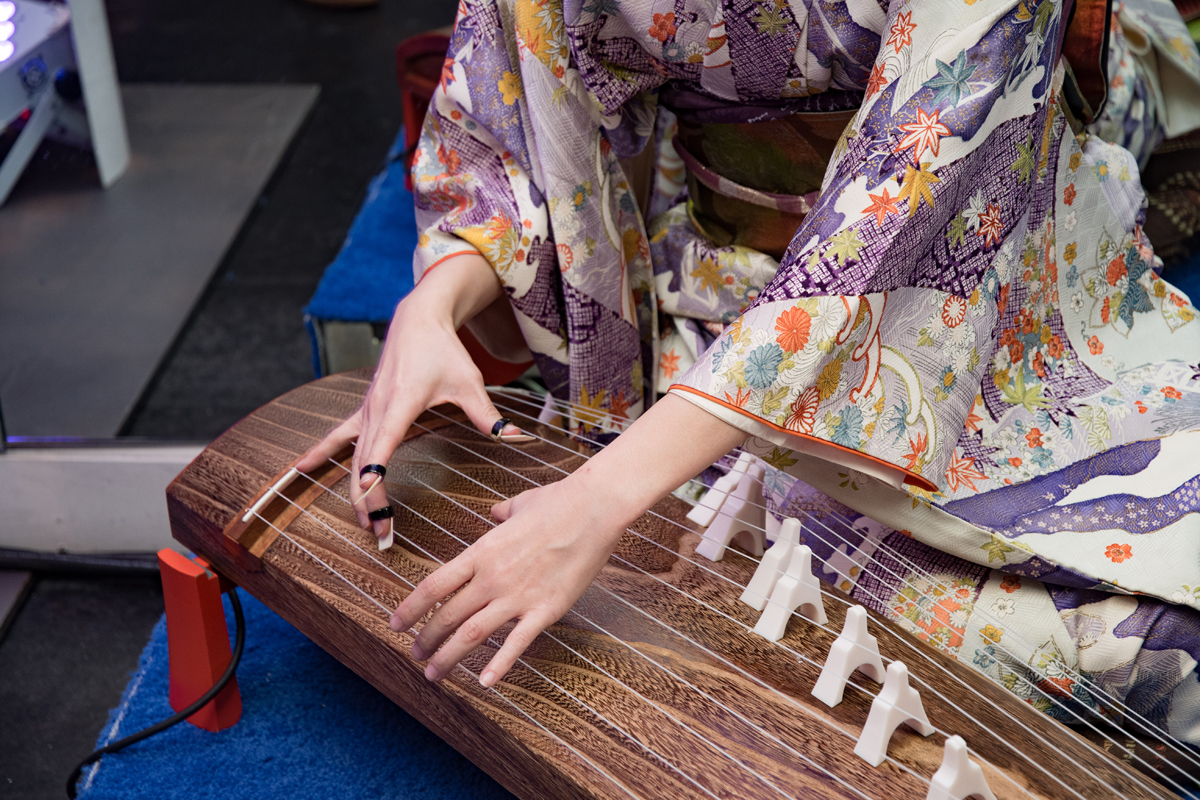 Grand Seiko Boutique Grand Affair Beverly Hills Store Opening Traditional Japanese Koto String Instrument up close.jpg