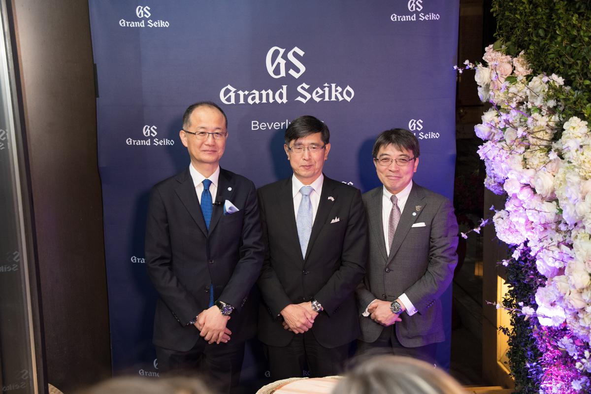 Grand Seiko Boutique Grand Affair Beverly Hills Store Opening Shuji Takahashi.Akira Chiba.Mr Naito.jpg