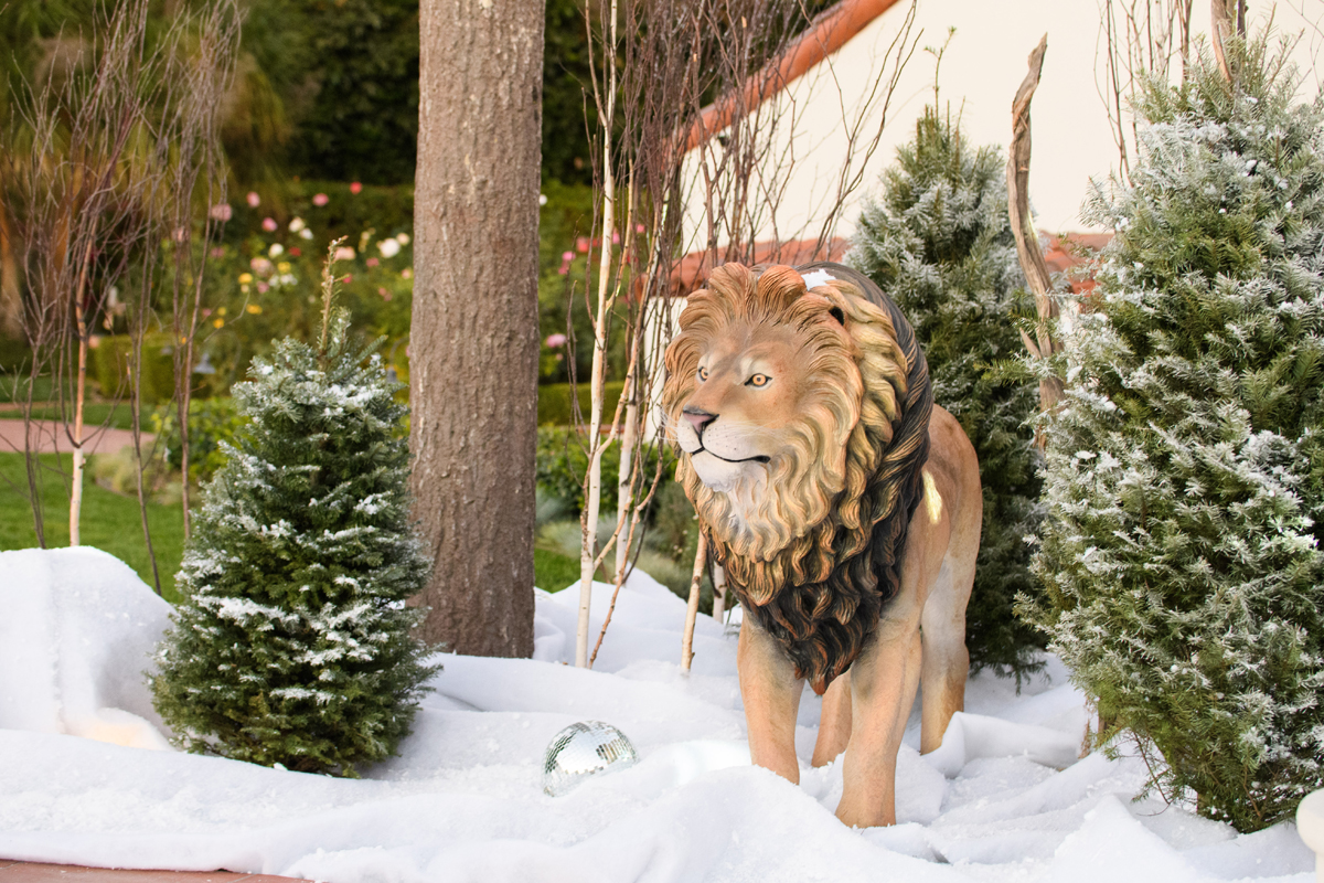 Narnia Inspired Opulent Winter Wonderland Party lion decor.jpg