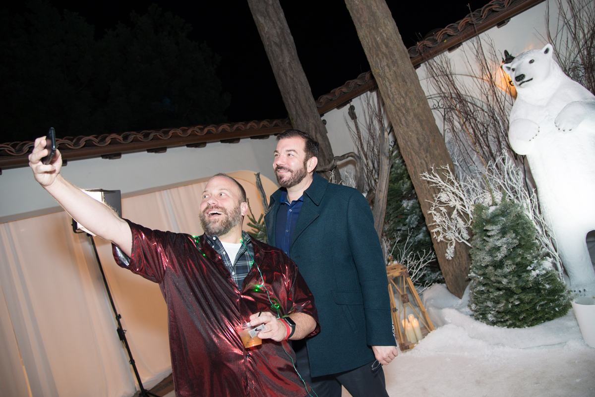 Narnia Inspired Opulent Winter Wonderland Party selfie with polar bear decor.jpg