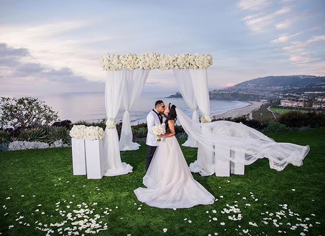 Did you know we have the greatest wedding planners here at WOTP? In January we were fortunate to be the chosen team to celebrate Jennine and William alongside some talented vendors at the @ritzcarltonlagunaniguel. We love, love.  Image: @linandjirsa  Florals: @whitesakuras  #thewotp #wotpweddings #brides #lagunaniguel #weddingplanners #pasadenaweddings