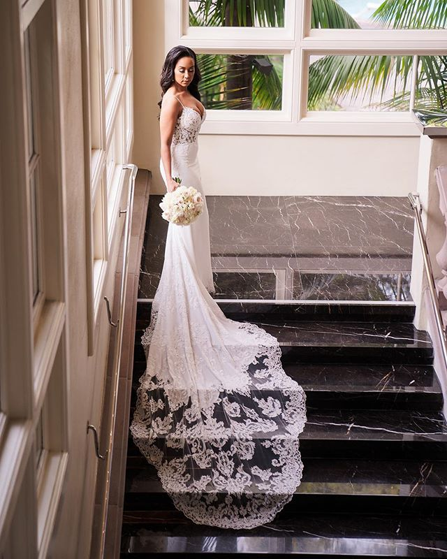 """This dress change, Jennine! I can't even caption this because it's just so pretty """"as is"""". You were a beautiful bride and every selection you made was so elegant and tasteful!  We watched from the top of the stairs as @linandjirsa caught so many angles of this just perfectly.  #thewotp #wotpweddings #brides #lagunabeach #ritzcarlton #linandjirsa #weddingdress #weddinginspo"""