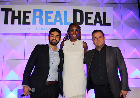 Hiten Samtani, Venus Williams and Kobi Karp (Credit: Jose Larrotta) via TRD.com