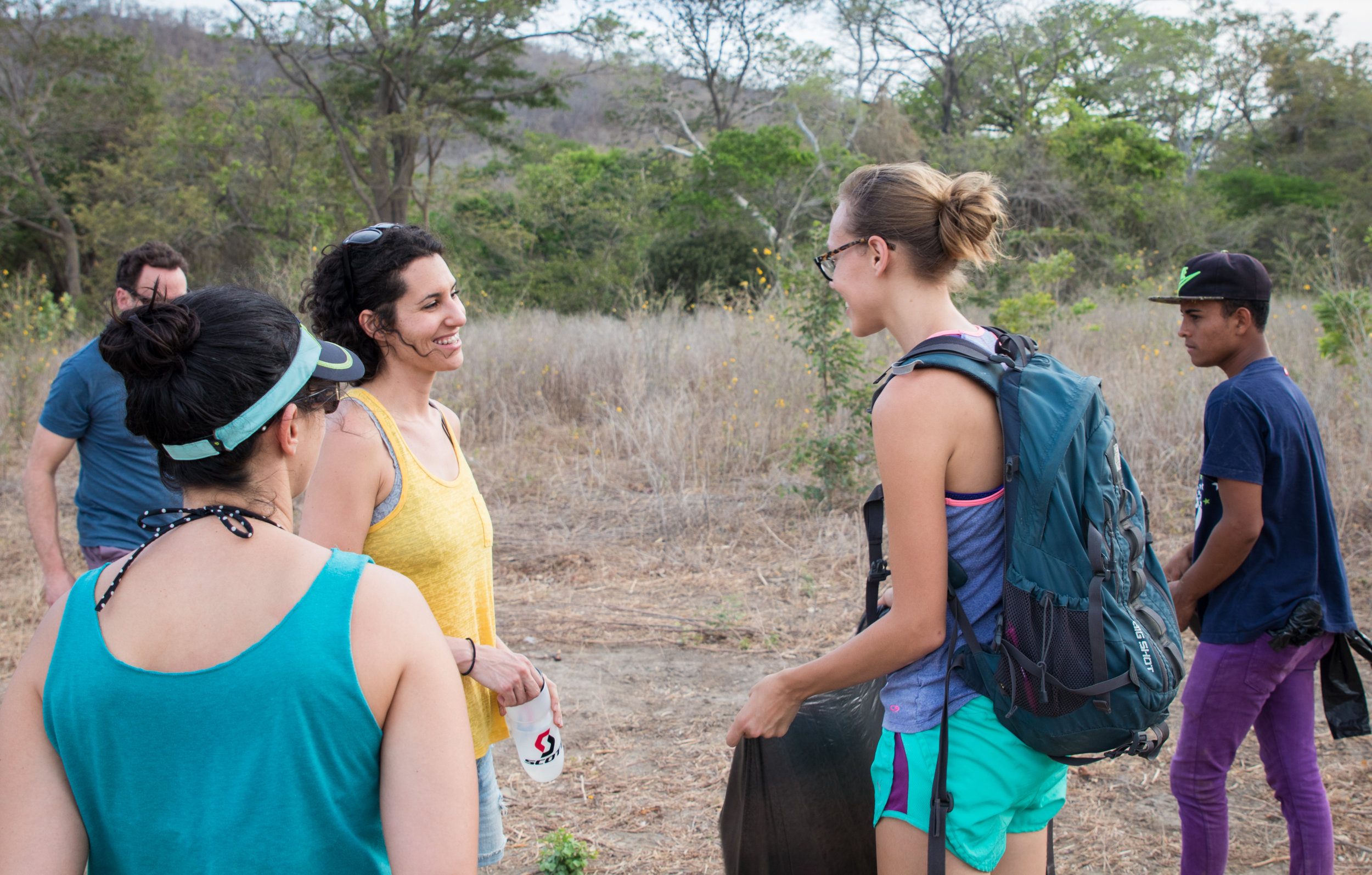 Sarah and Corrie Burdett, the foundation's Executive Director, chat while working with the kids on an environmental activity.