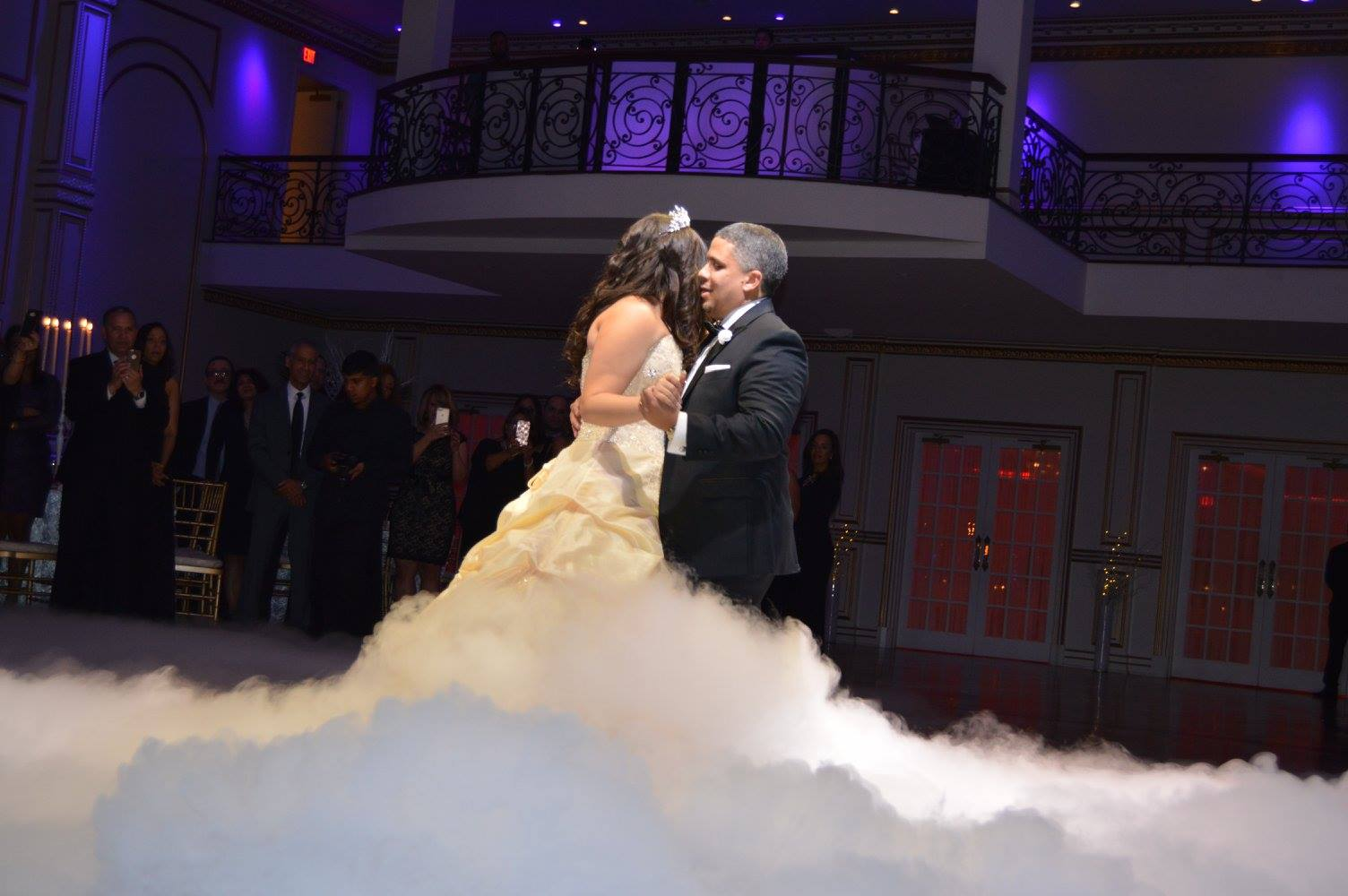 DANCE ON CLOUDS  This popular effect provides the illusion of dancing on clouds. It is safe, approved at most venues and will transform your dance floor into a magical dance scene.