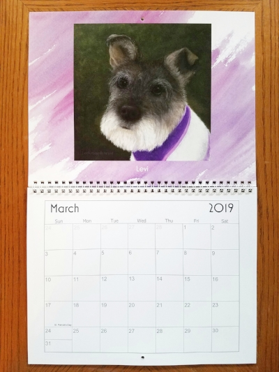 Here is sweet Levi donning the month of March.