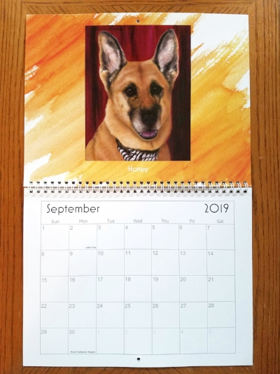 Here is Honey donning the month of September