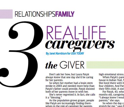 Real-life caregivers