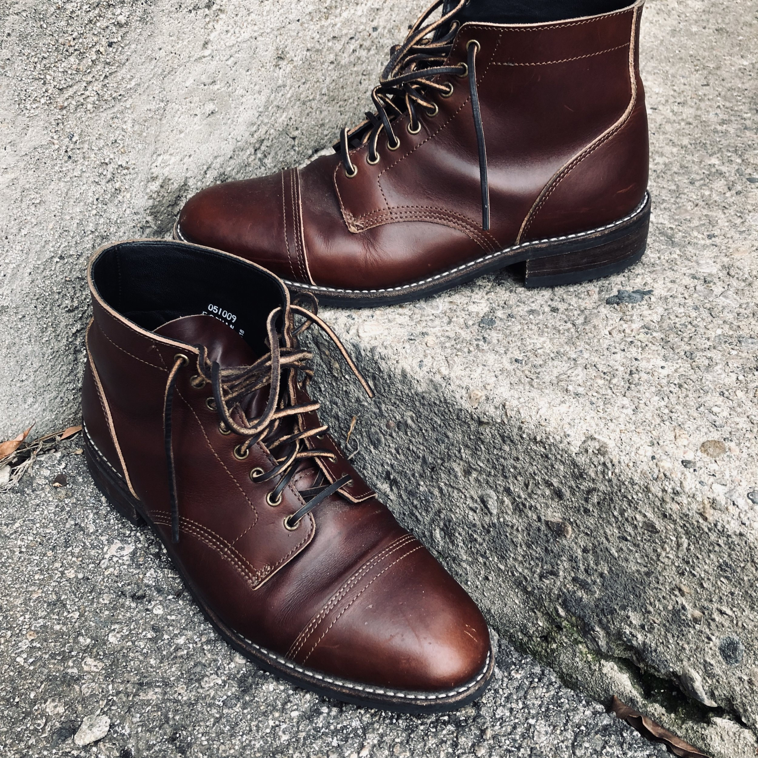 Thursday Boot Co Vanguard Cap Toe Espresso Boots