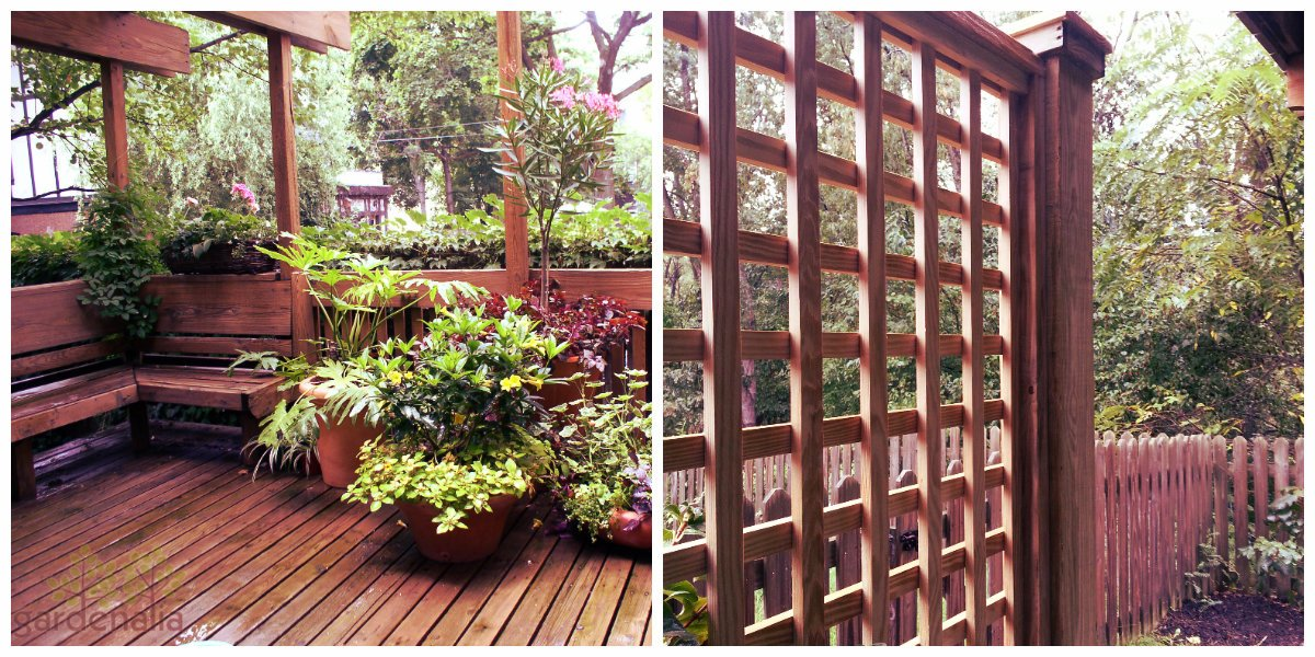 Left: Wood Trellis Pergola Right: Wood Trellis Panel