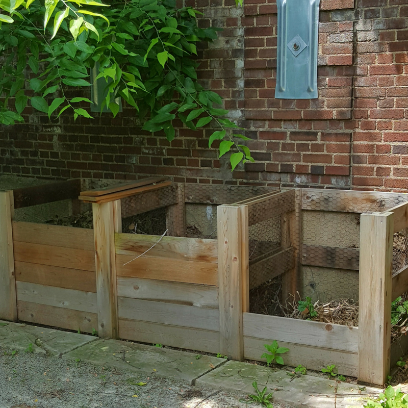 Compost bins can be built in many different styles. Here's one of our favorites!