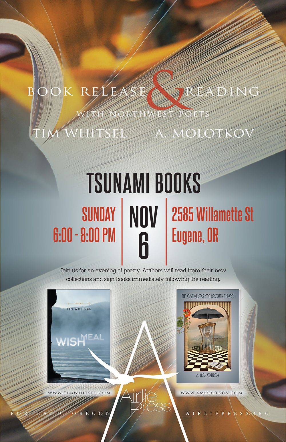 Book release poster