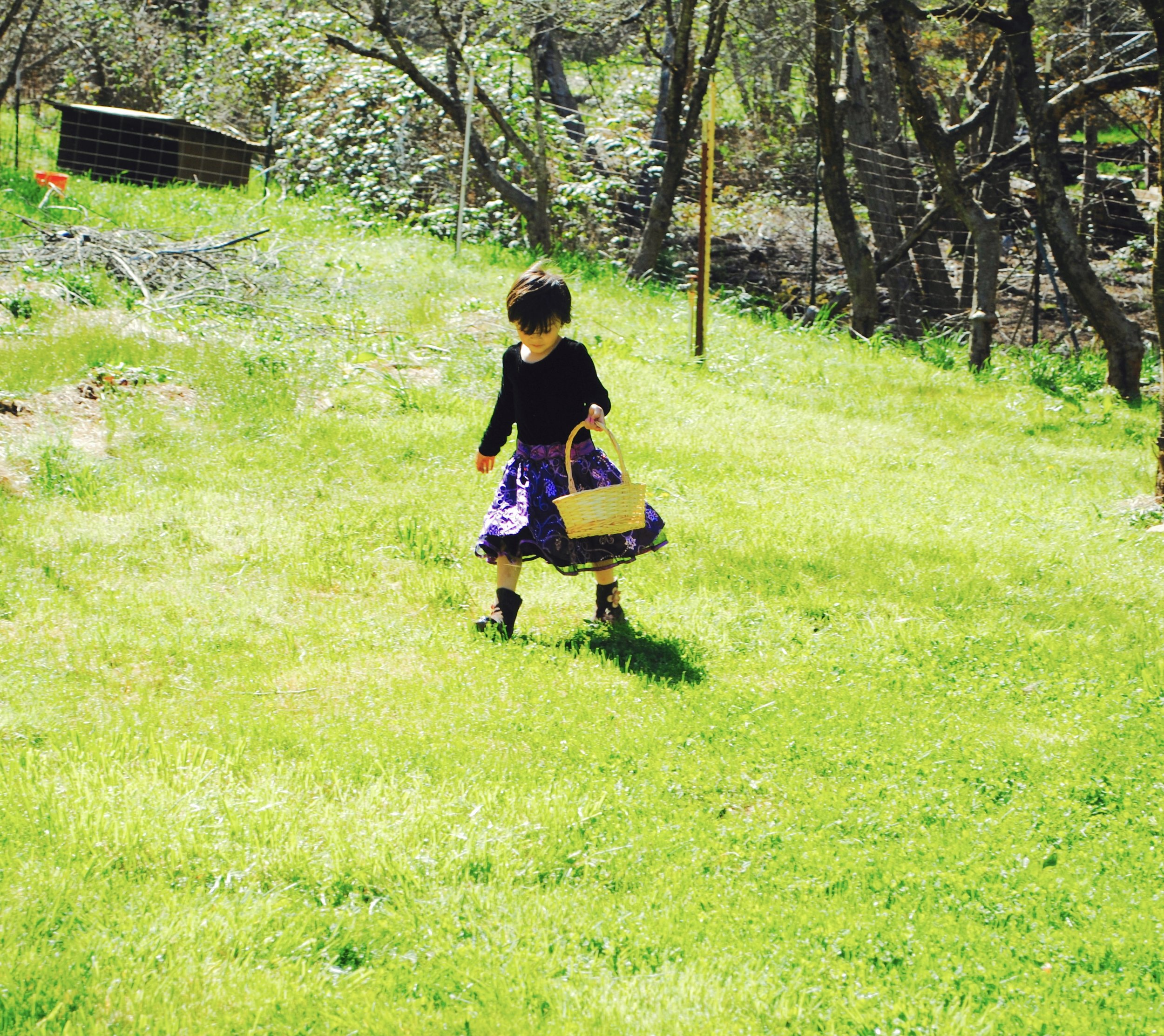 Lola wore her favorite fancy frock and sturdy boots.
