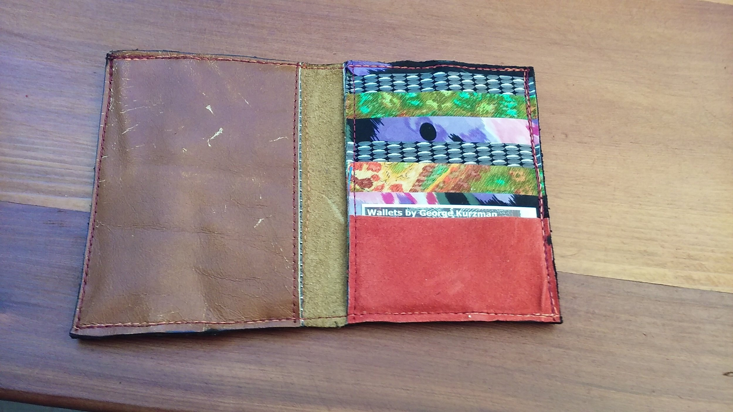phone pocket on the left, cards on the right
