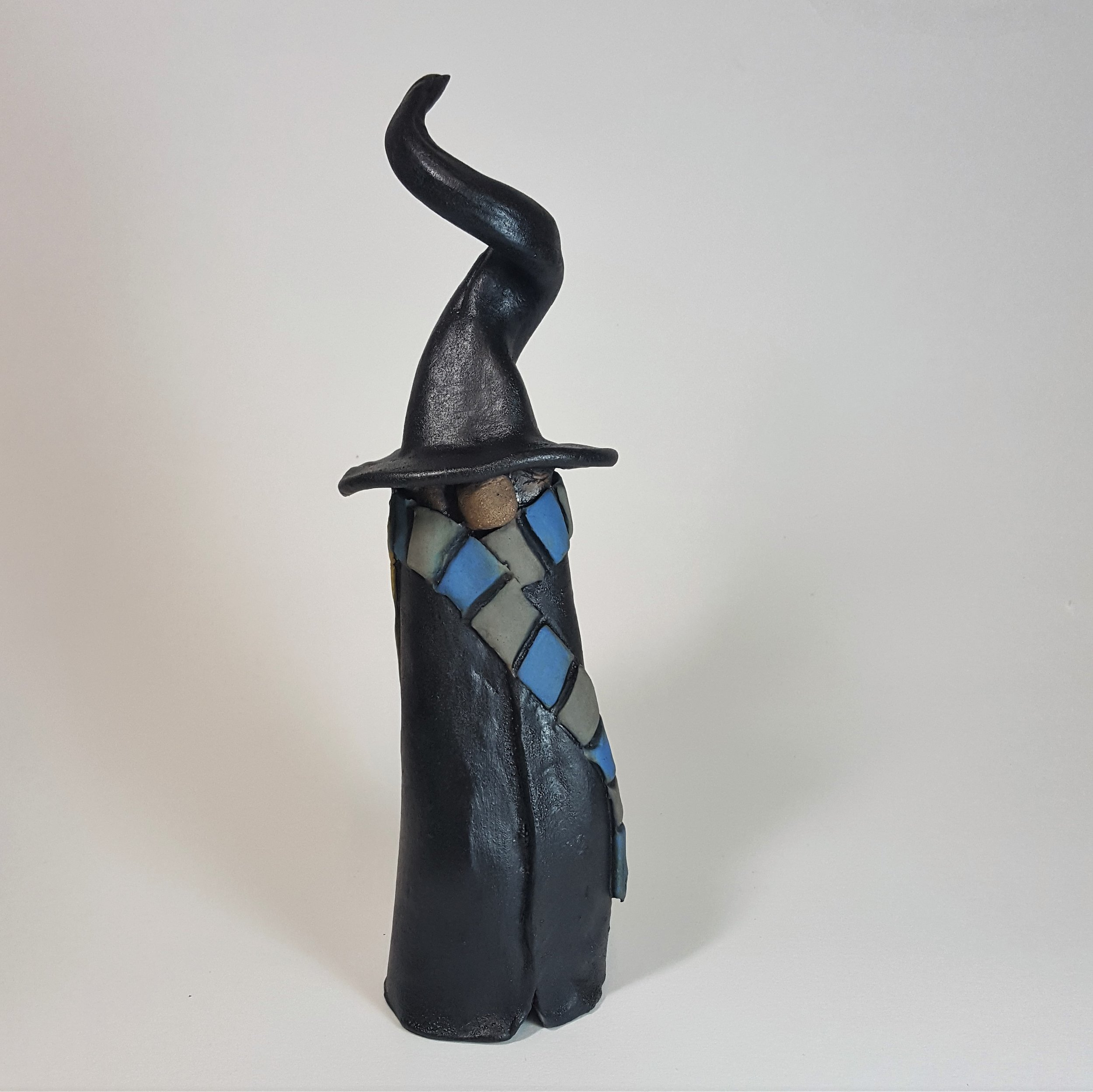 9.25 Inch Tall Witch/Wizard with Long Blonde Hair - $45
