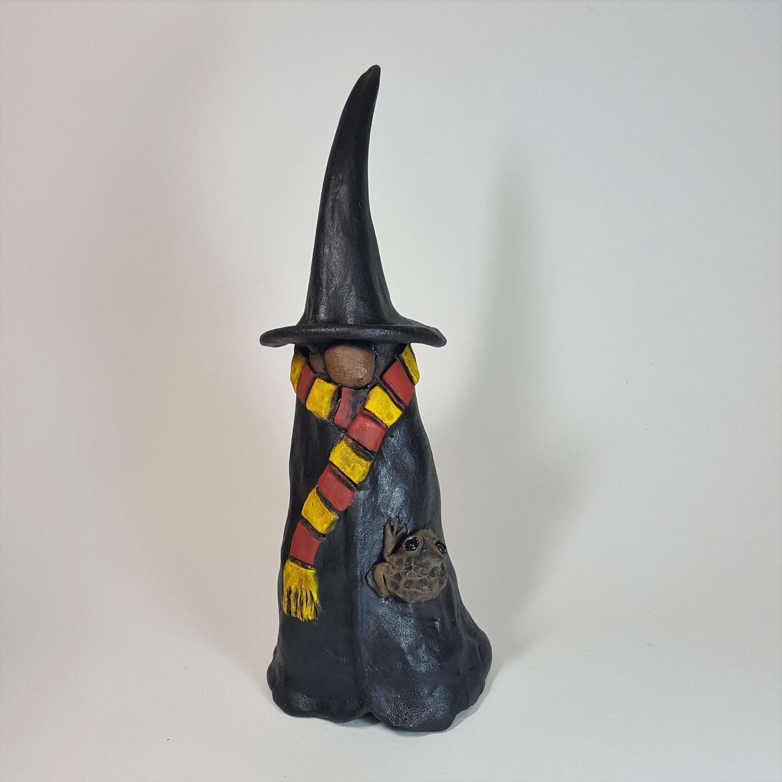 9 Inch Tall Witch/Wizard with Toad - $60