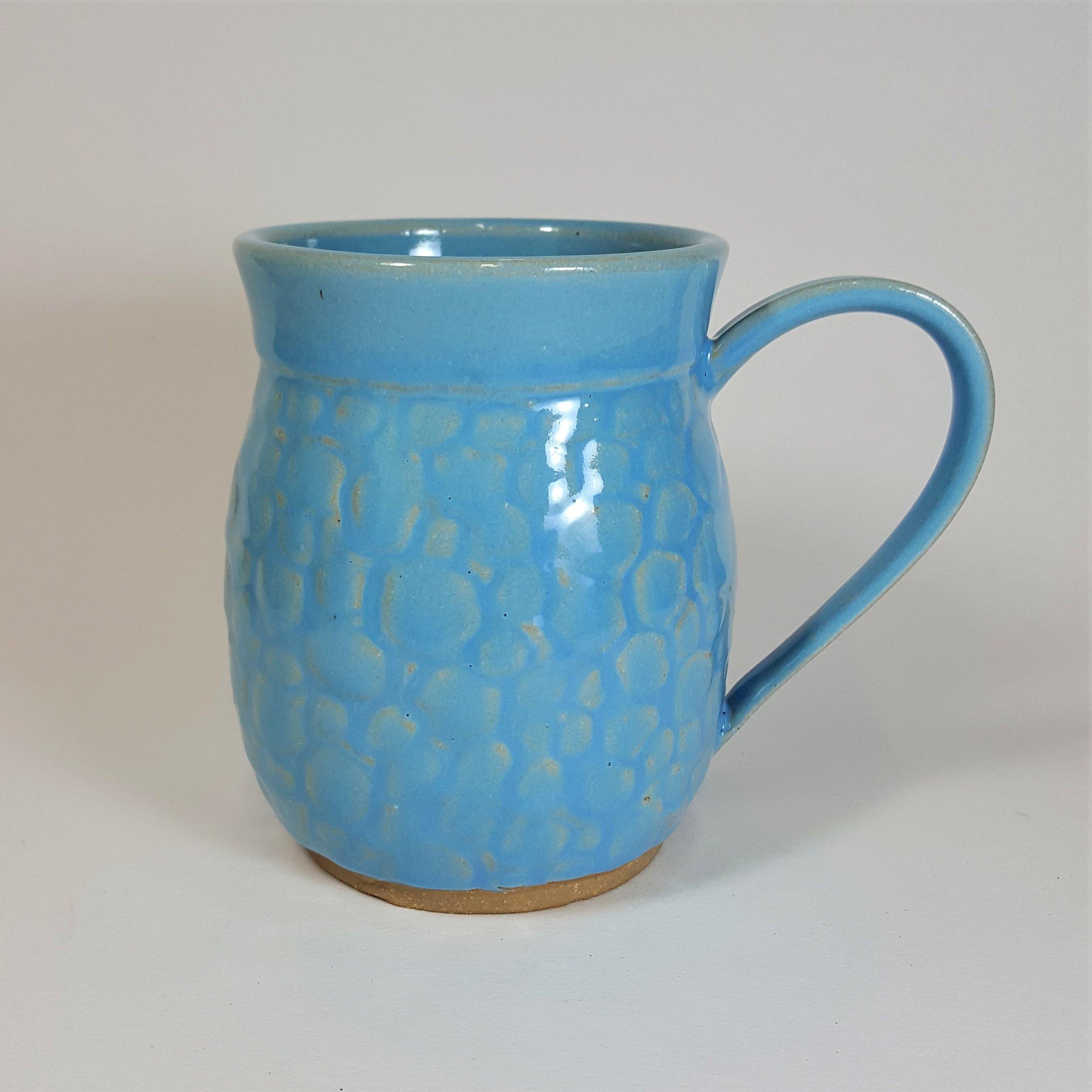 16 oz. Light Blue Dragon Scale Mug - $45