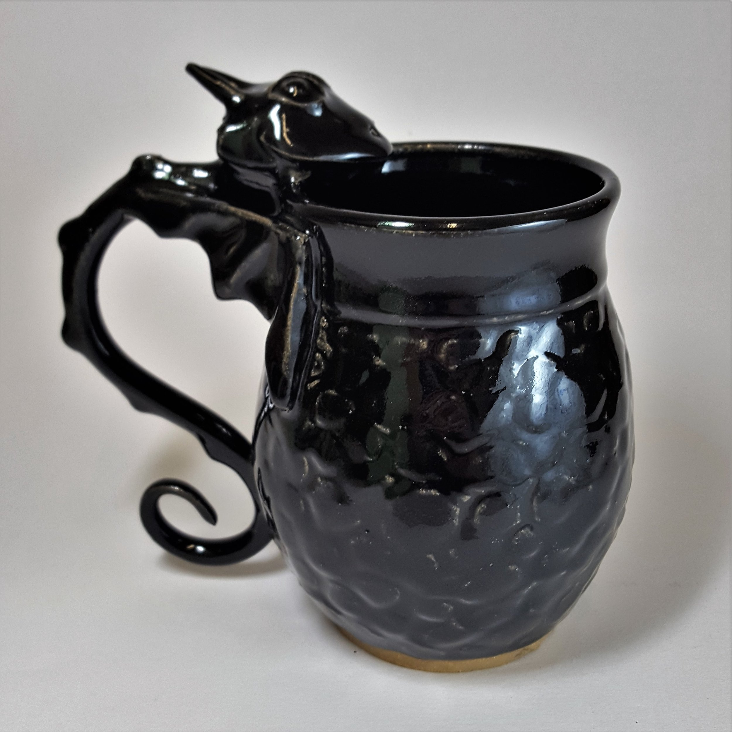SPECIAL EDITION 19 oz. Black Dragon Mug with Scale Detail - $80