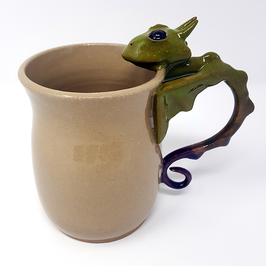 16 oz. Green to Purple Dragon Mug - $80