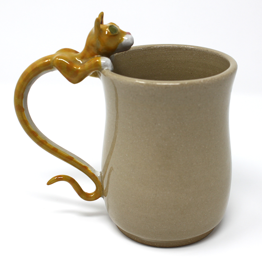 15 oz. Orange Tabby Cat Mug - $80