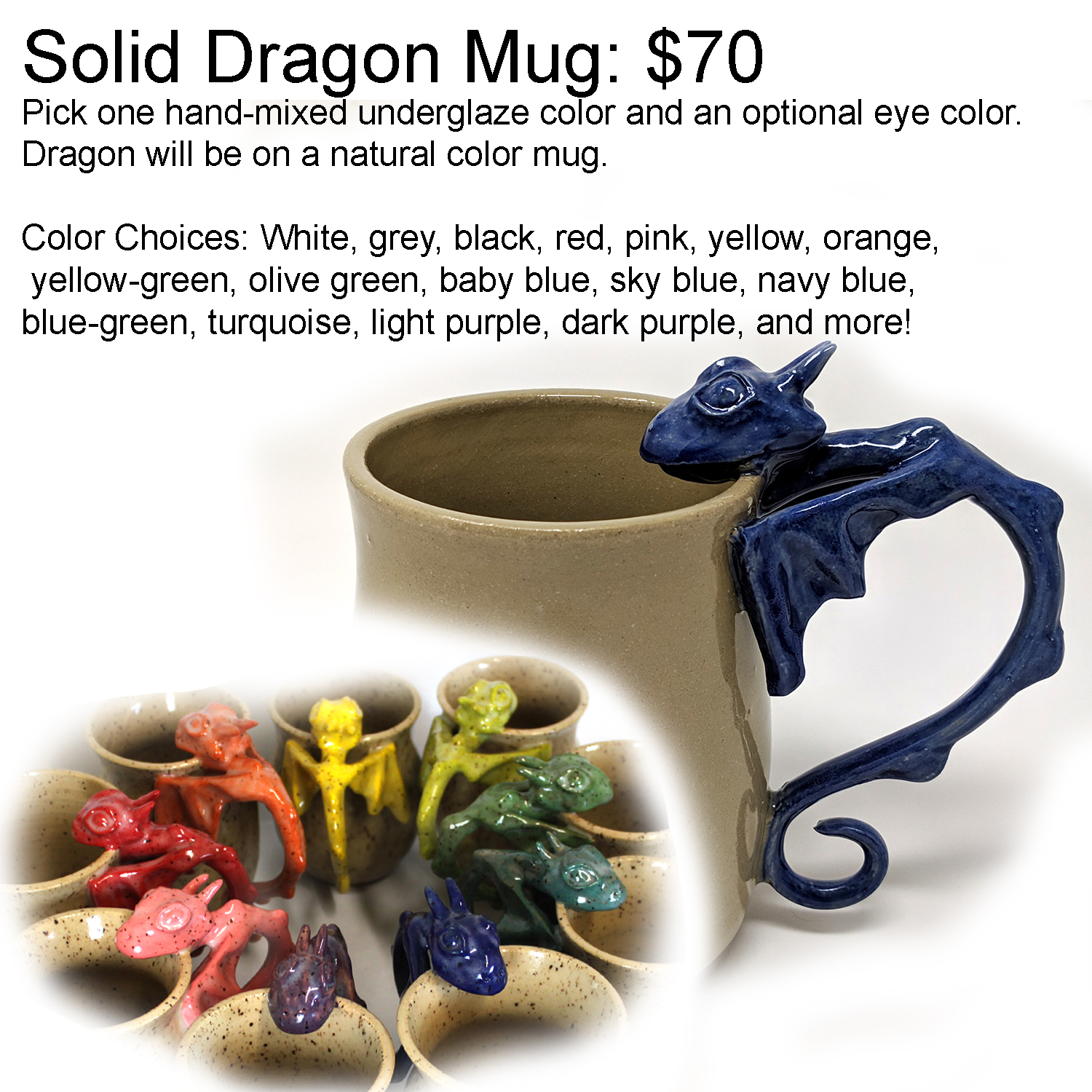 solid dragon mug