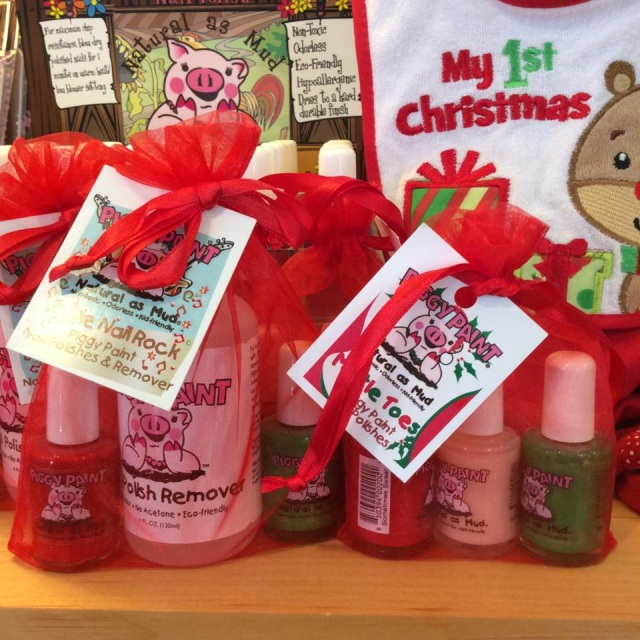 - Holiday themed Piggy Paint from Mommy and Me All Natural Parenting Boutiquemommymecapecod.comGive the giftof non-toxic, hypoallergenic & kid-friendly nail polish to kids and adults alike for all seasons and occasions