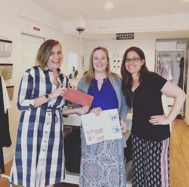 Heather and Sabrina receiving the Spring 2018 Project Cape Made award (with our very own Amanda Converse!) from LoveLiveLocal.