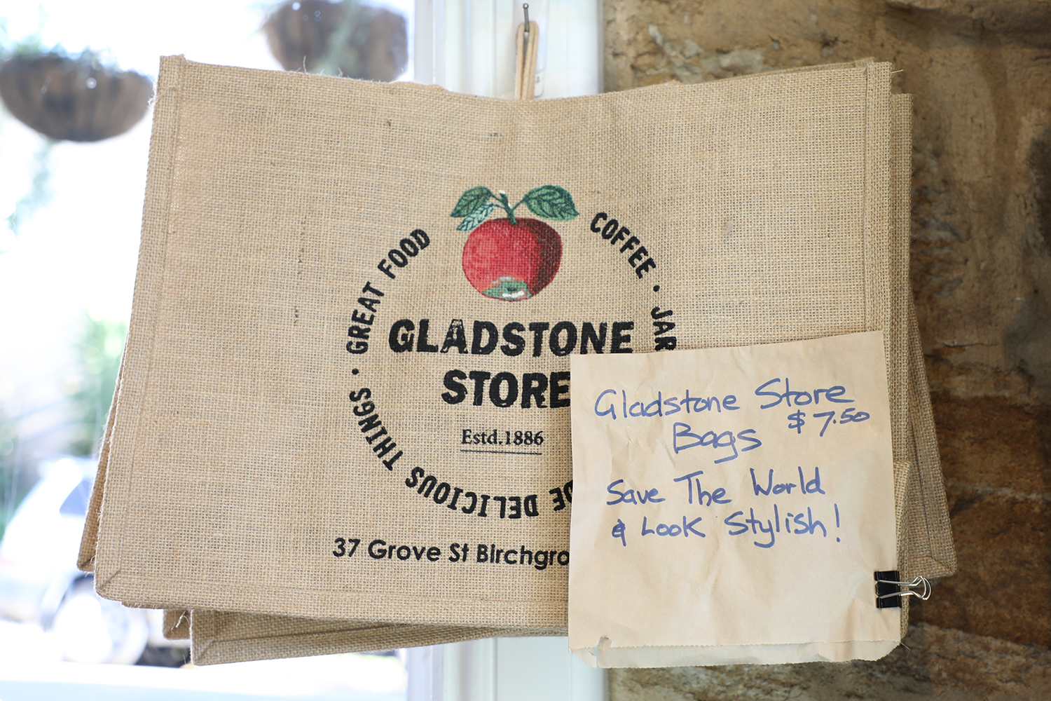 Shop in style with a Gladstone Store bag