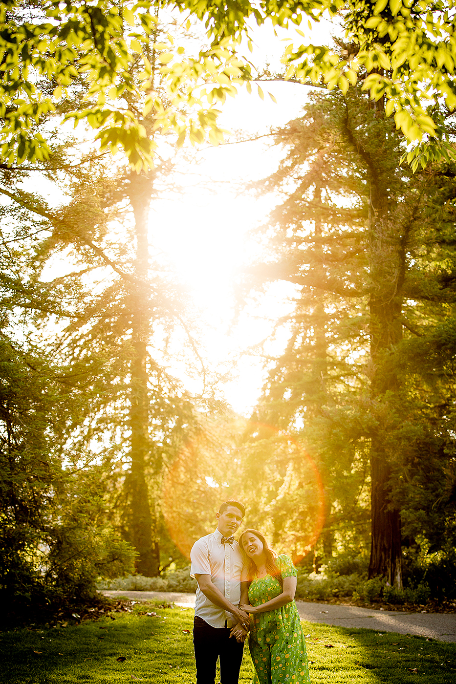 Katie and Stephen's UCD Arboretum engagement shoot
