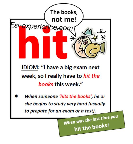 hit the books idioms in english