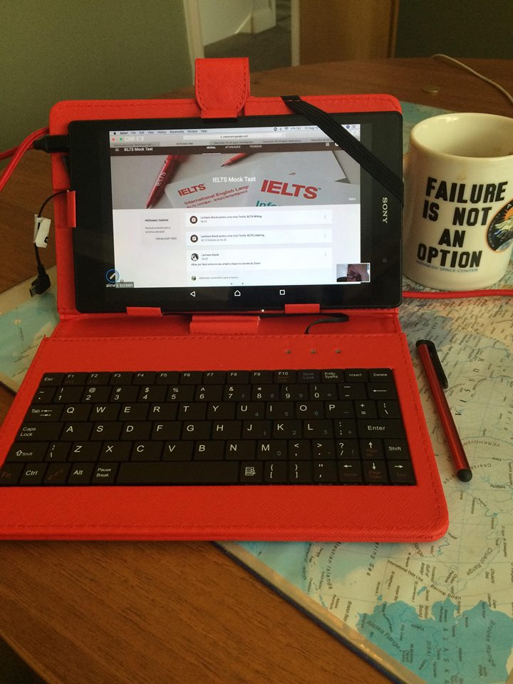 Using tablets for tests ielts Toefl