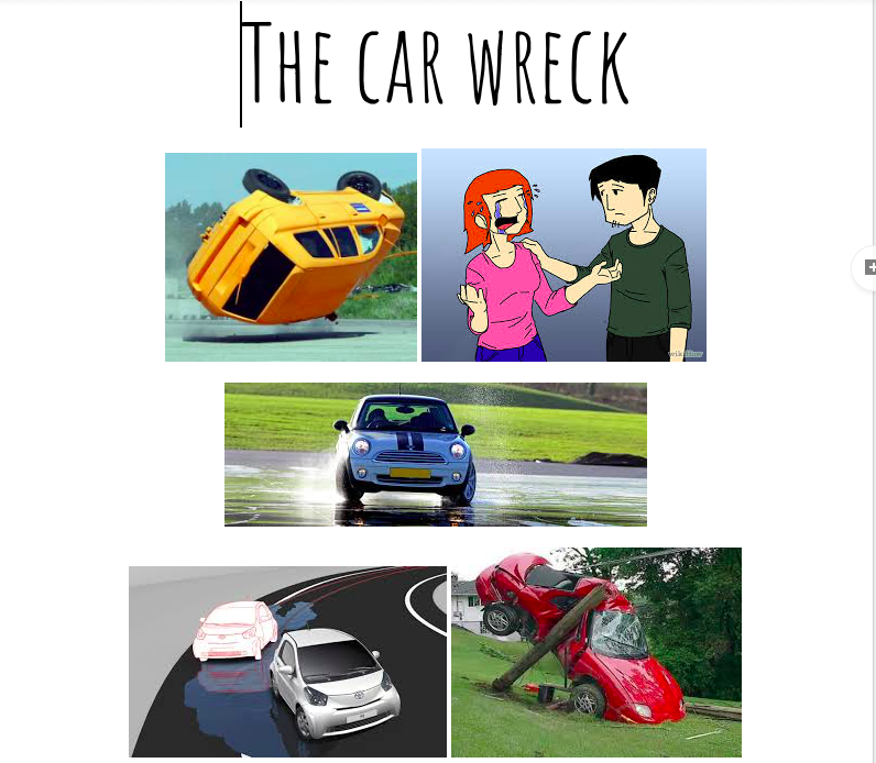 Conversação - Uma aula espontânea cujo tema central foi o acidente de carro que o aluno sofreu. Trabalhamos vocabulário, pronúncia, fluência e gramática a partir desse breve relato.