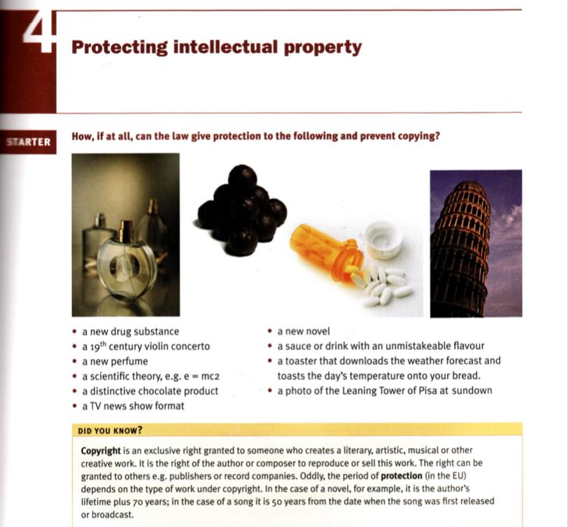 Propriedade intelectual - Material de apoio para longas discussões do tema