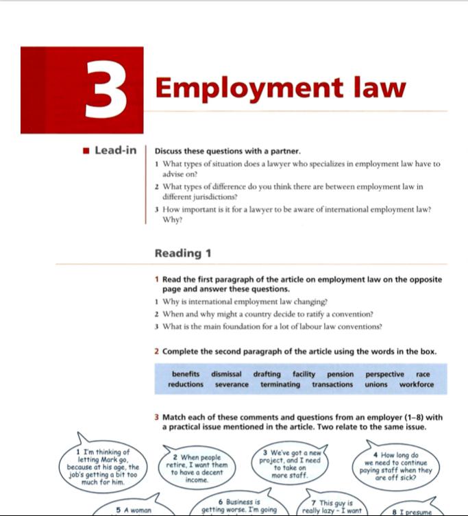 Direito trabalhista - Leitura e discussão sobre o tema