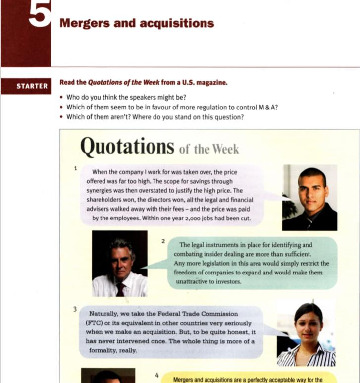 Fusões e aquisições -