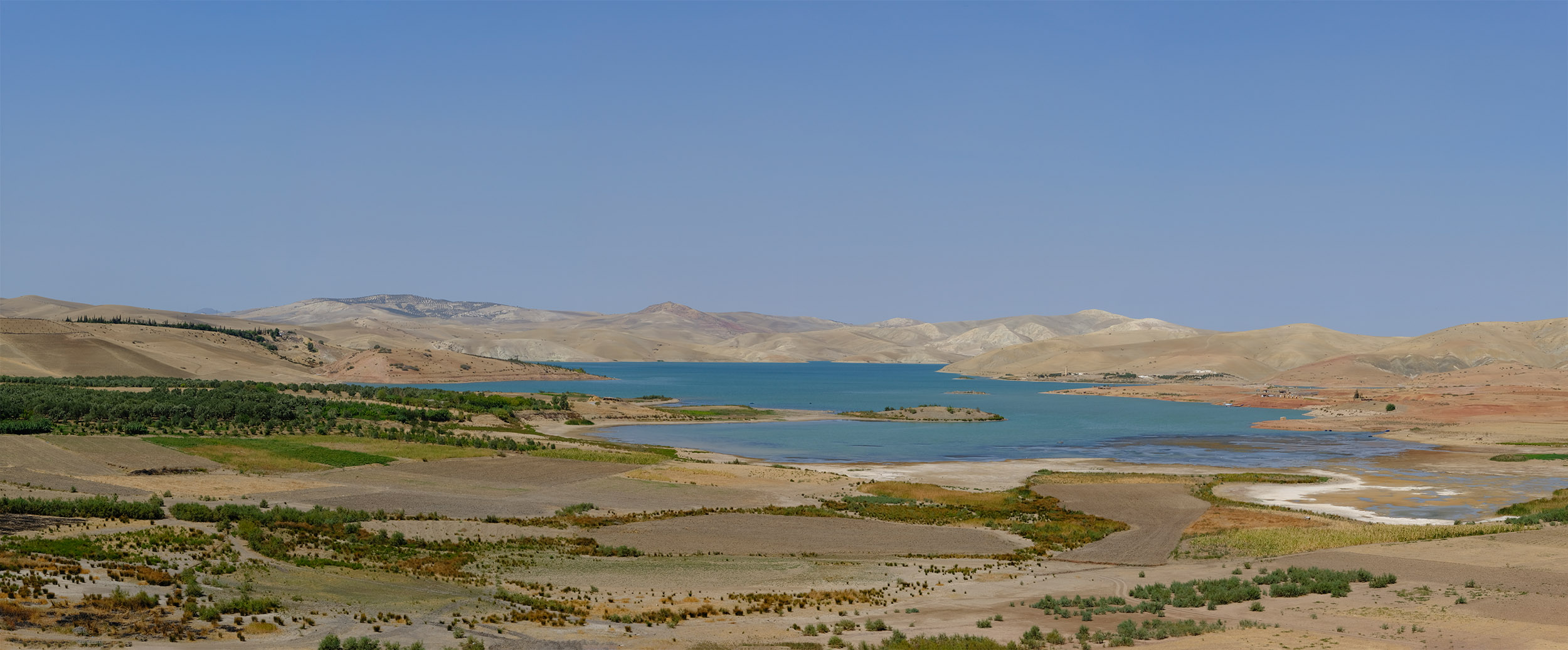 On the outskirts of Fez and Meknes, Barrage Sidi Chahed lake