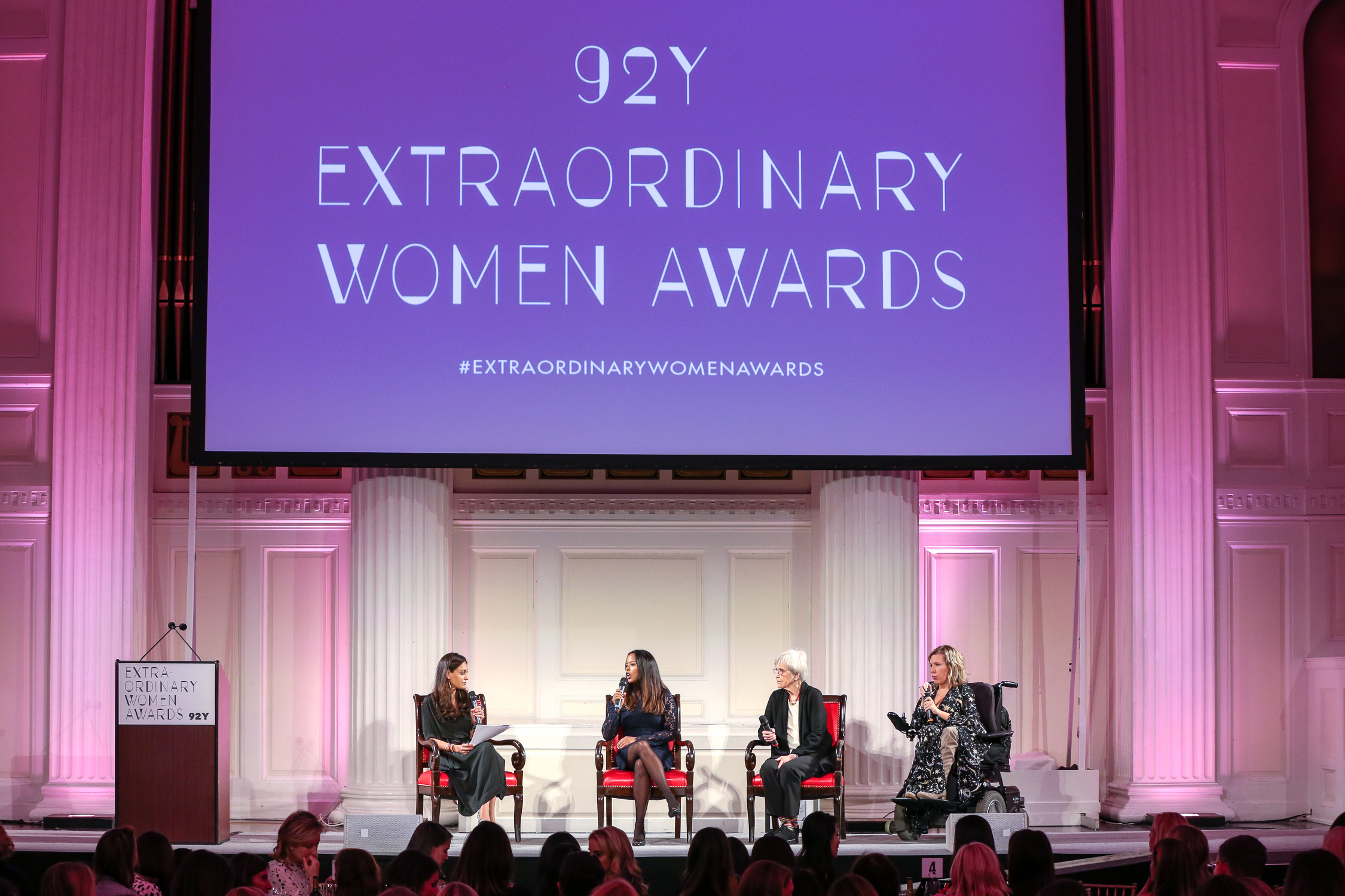 On stage at  92Y 's 2017 Extraordinary Women Awards on Park Avenue