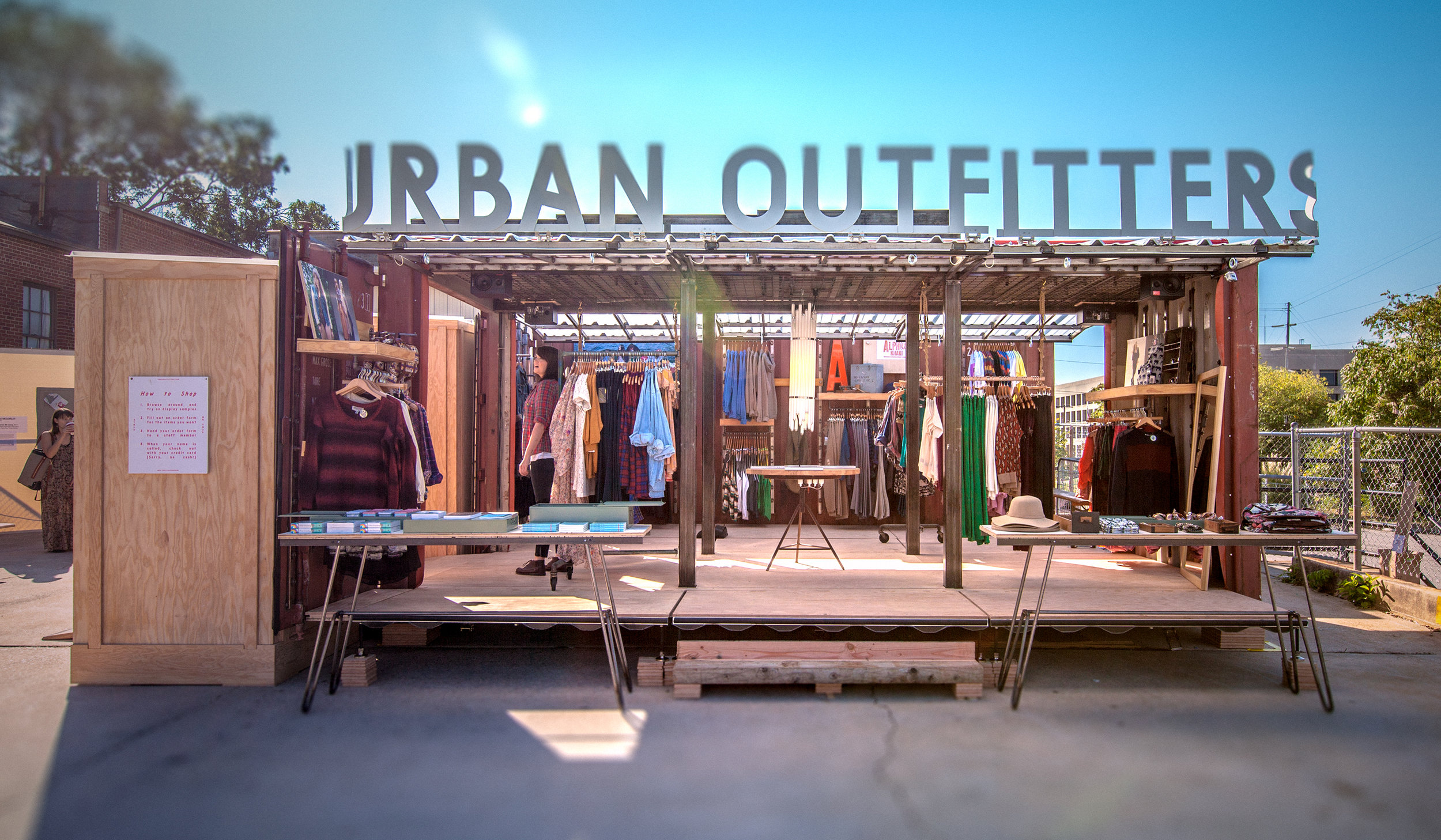 ImagiCorps was hired by 206 Inc. to work with Urban Outfitters to create a mobile retail store.