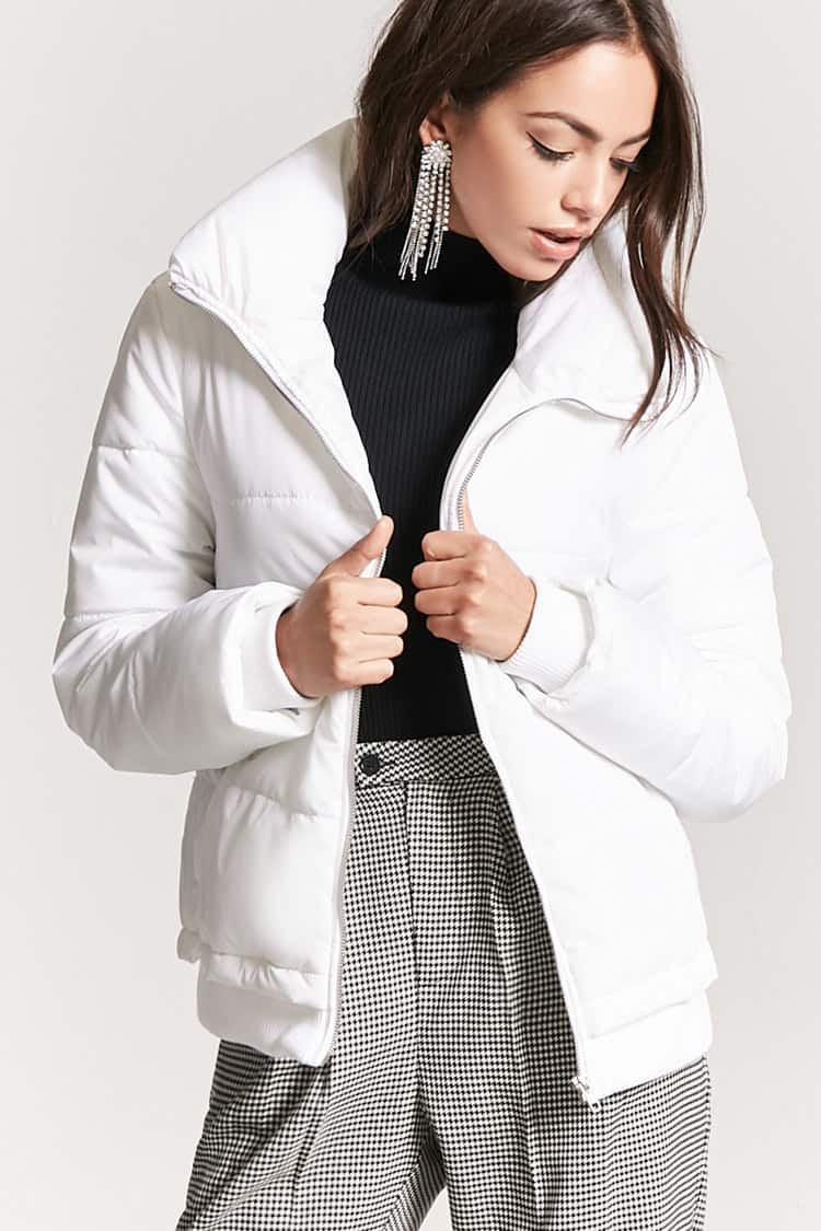 Zip-Up Puffer Jacket