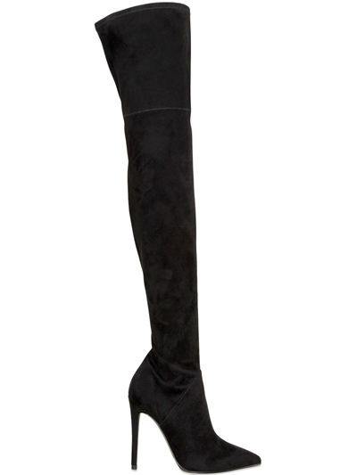 KENDALL+KYLIE  100MM KAYLA FAUX SUEDE STRETCH BOOTS