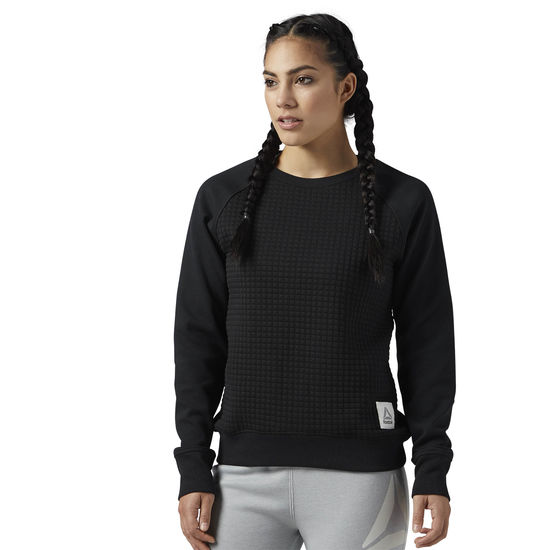 WOMEN TRAINING ELEMENTS QUILTED CREW
