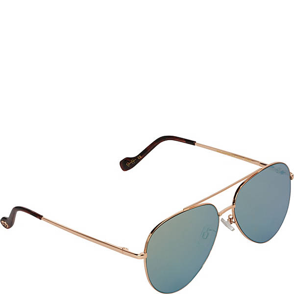 Jessica Simpson Aviator with Flat Lens Sunglasses