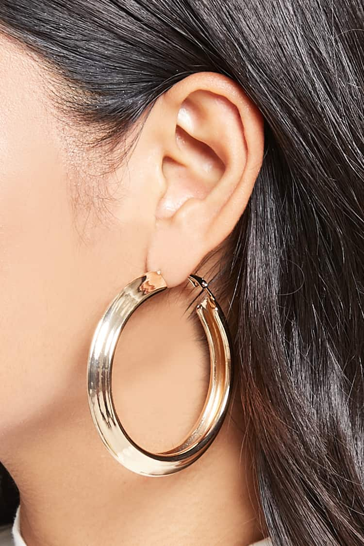 Pointed Hoop Earrings