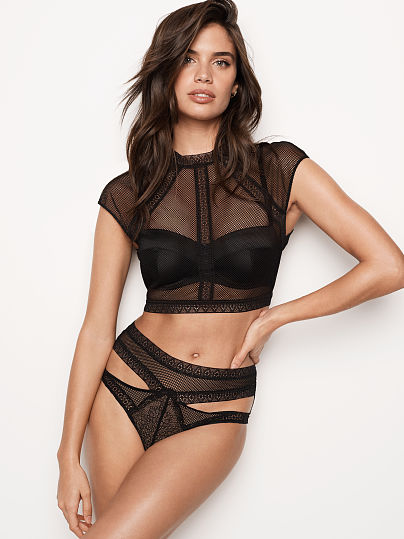 VERY SEXY NEW! Fishnet Lace Top