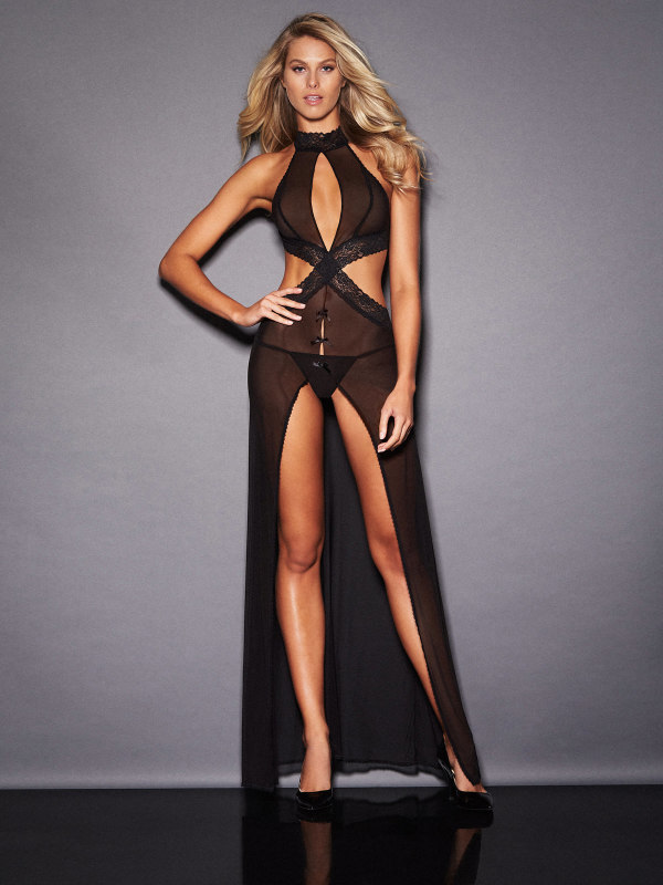 ALEXIA MAY HALTER NECK GOWN