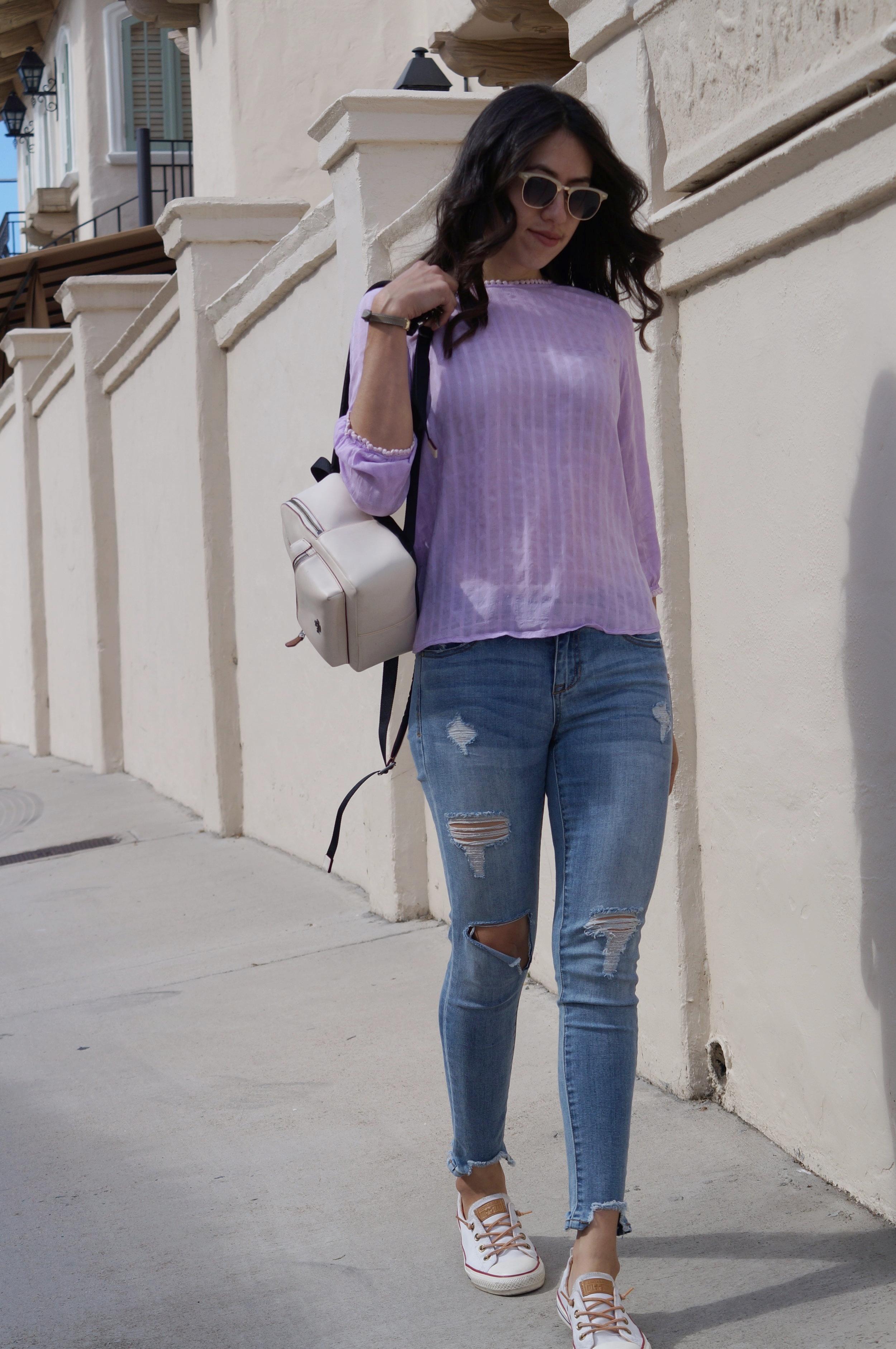 Spring 2018, lavender, coat backpack