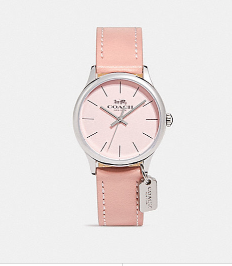 RUBY LEATHER STRAP WATCH