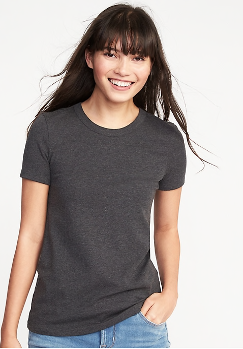 Slim-Fit Crew-Neck Tee for Women
